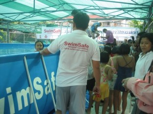 Swimming Demonstartion at the SwimSafe Thailand Launch