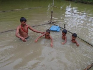 SwimSafe classes in Raiganj, Bangladesh