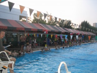 A great all-age turn out at the 2010 swim-a-thon fundraiser for TASC in Thailand