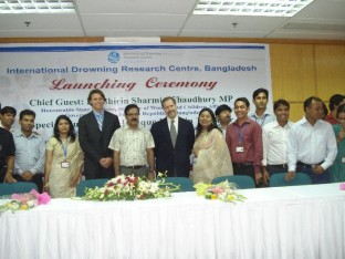 At the launch - the IDRC will carry out research to develop effective and sustainable drowning interventions in Asia