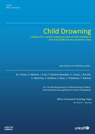 Child Drowning - Evidence for a newly recognized cause of child mortality in low and middle income countries in Asia